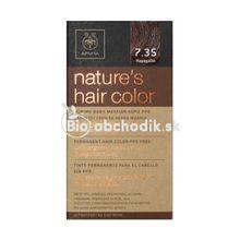 Prírodná farba na vlasy 7.35 Karamelová apivita
