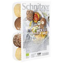 """BEZLEPKOVÉ BIO ŽEMLE """"Brunch mix"""" Schnitzer 500g"""
