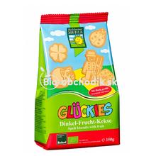 Bio detské špaldovo-ovocné sušienky 150g Gluckies
