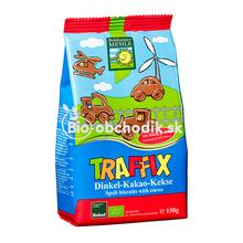 Bio špaldové sušienky autíčka pre deti 150g Traffix