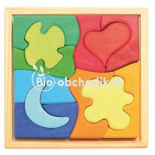 "Drevene detske puzzle ""Symboly"" Grimm´s"