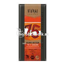 Horká čokoláda 75 % s kokosovým cukrom Vivani 80g