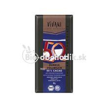 Mliečna čokoláda 50% s kokosovým cukrom Vivani 80g