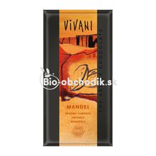 BIO Mliečna čokoláda s mandľami VIVANI 100 g