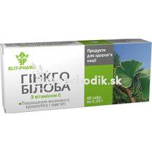 GINKO BILOBA s vitamínom C 40tbl.